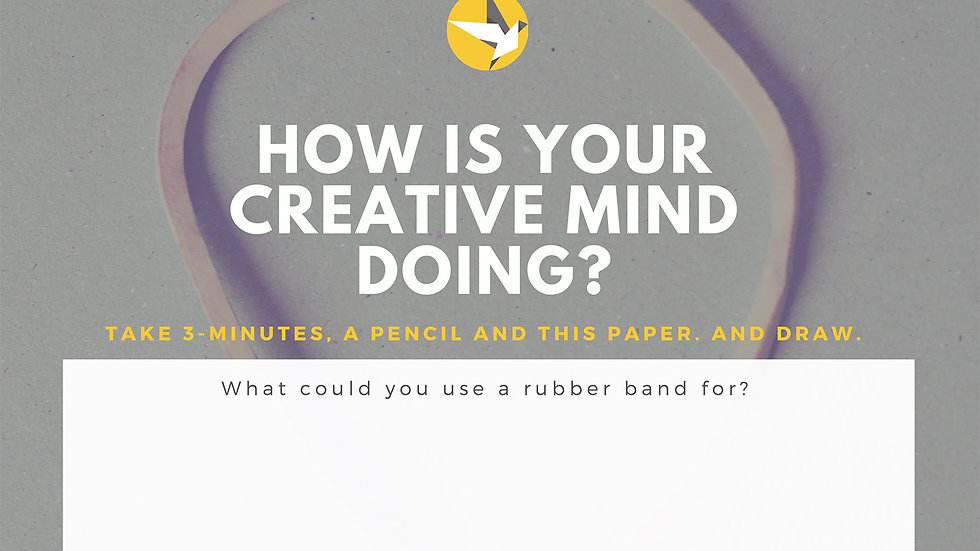 Worksheet - How is your creative mind doing?