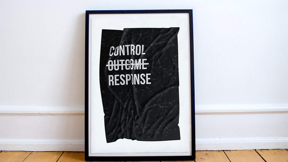Poster - Can't control outcome, control response