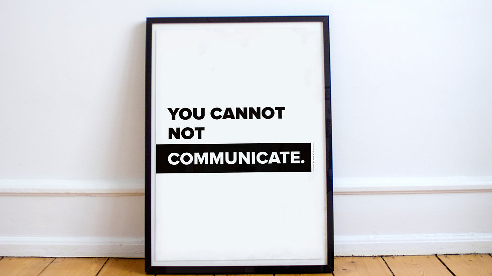 Poster - You cannot not communicate