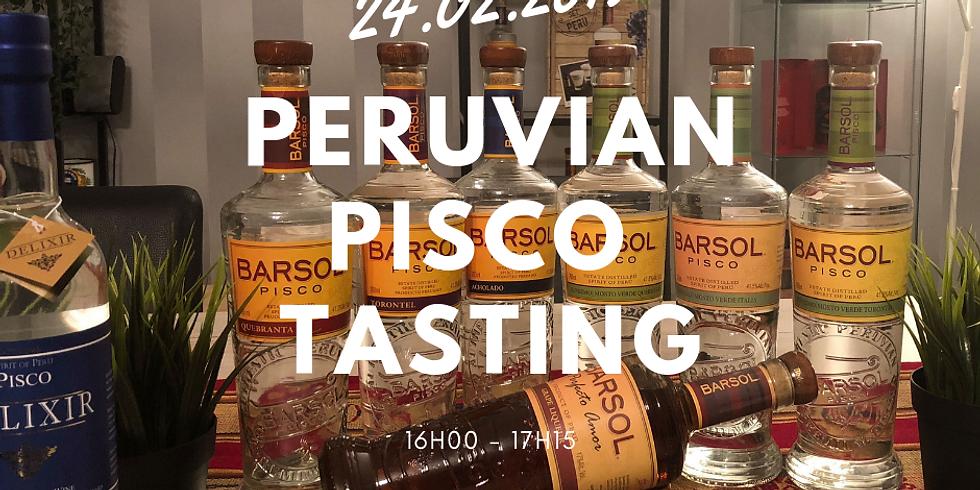 Peruvian Pisco Tasting