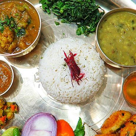 Traditional Nepali thali set