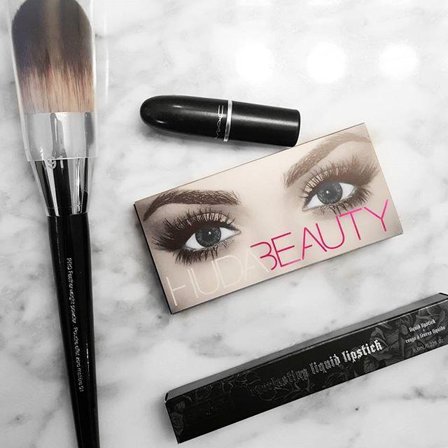 Sephora and MAC beauty favorites. huda beauty and katvond lolita lipstick