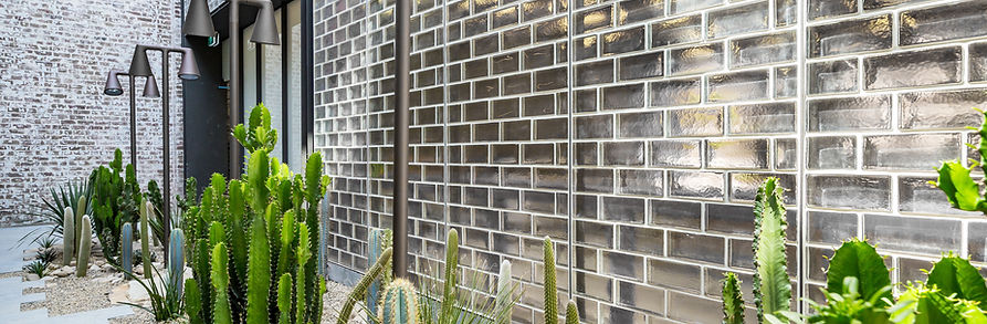 Poesia solid glass bricks by obeco