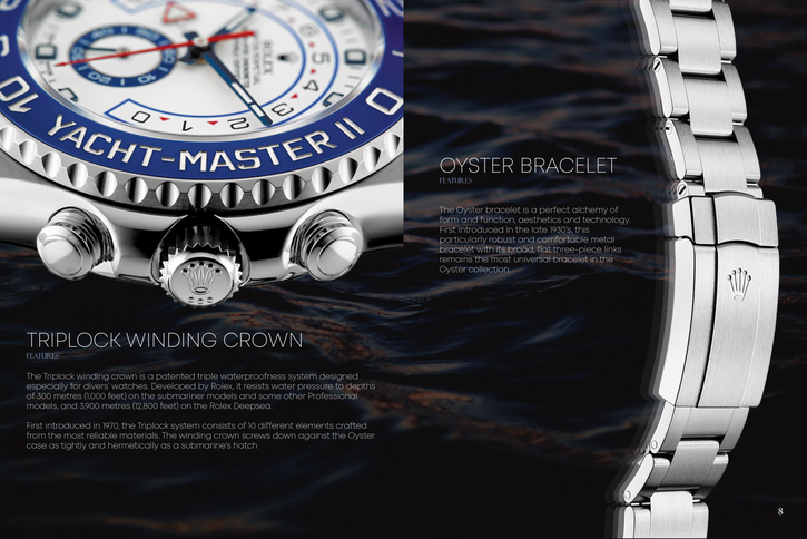 Rolex Brochure Redesign Spread 1