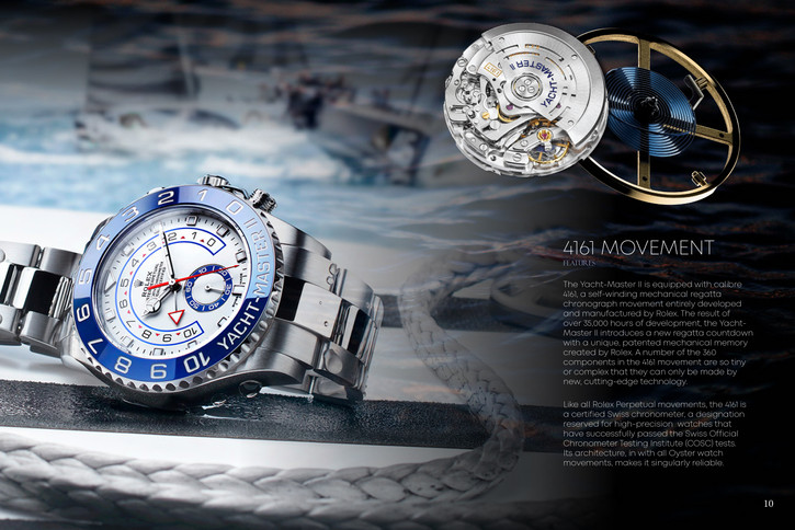 Rolex Brochure Redesign Spread 2