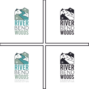River Bend Woods Logo Design