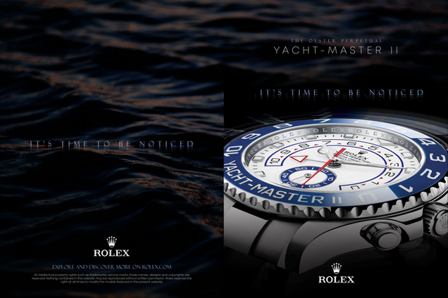 Rolex Brochure Redesign Front and Back Cover
