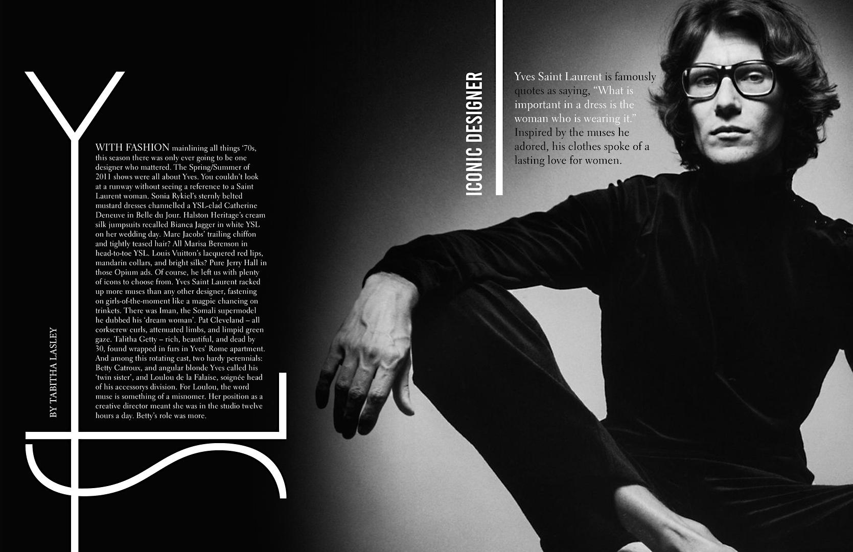 YSL Magazine Ad.