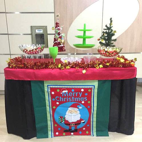 Candy Buffet Setup - Merry Christmas