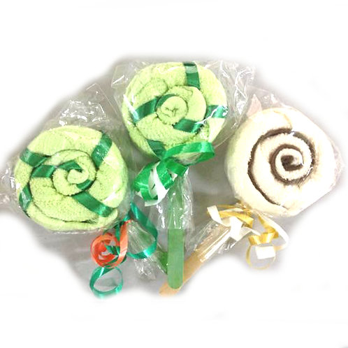 10pcs Towel Lollipop by the Visually Handicapped