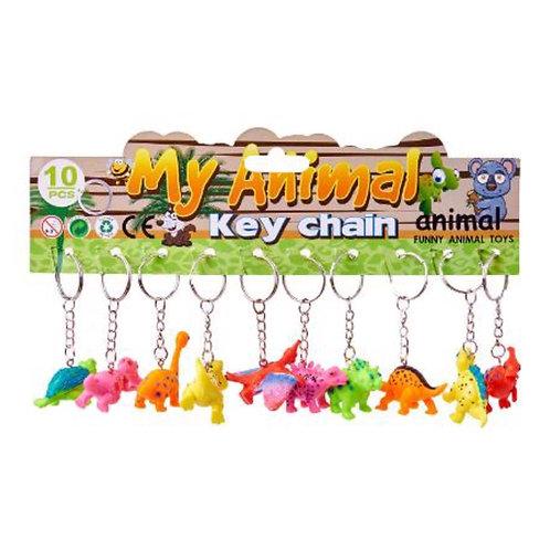 10pcs Dinosaur Keychain