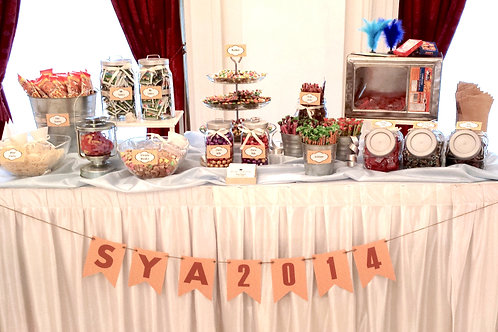 Candy Buffet Setup - Theme Retro Glam