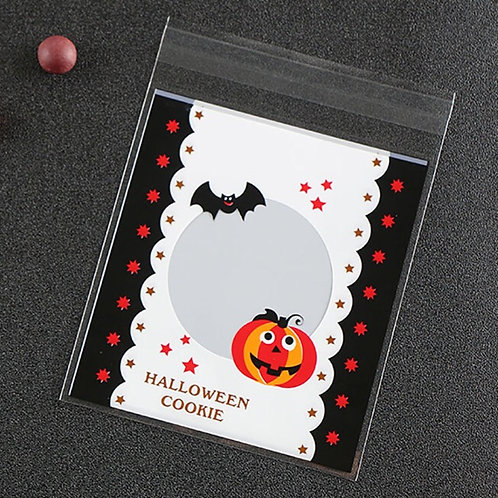 20pcs Plastic Bag with Seal - Halloween 002 - 10x10cm