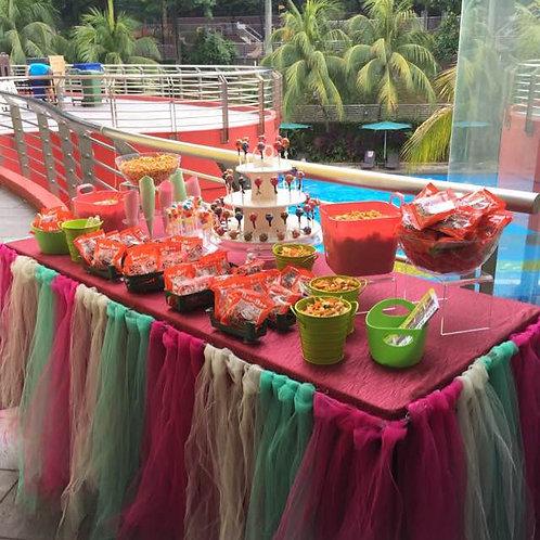 Kacang Putih & Candy Buffet Setup - Pink & Green
