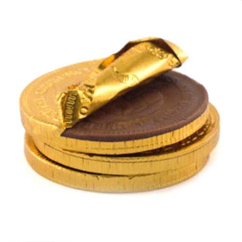 100pcs Halal Gold Coin Chocolate 3cm Diameter