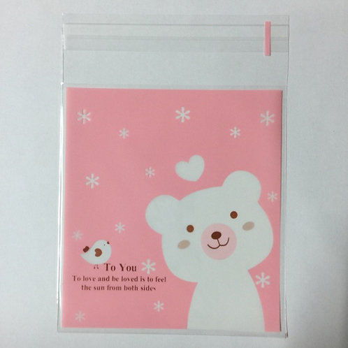 20pcs Plastic Bag with Seal - 10cmx10cm