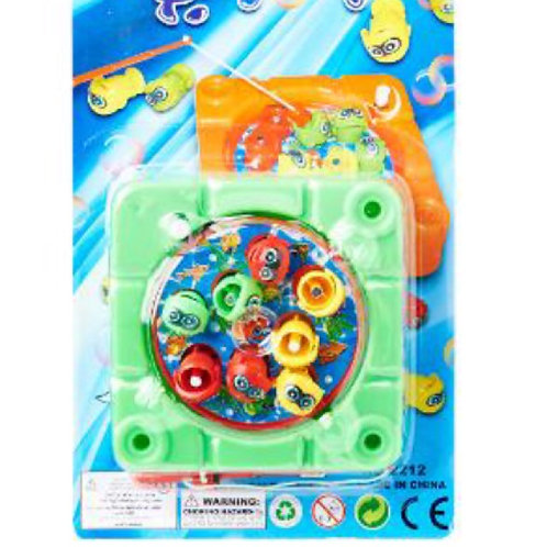 10pcs Wind Up Magnetic Fishing Game