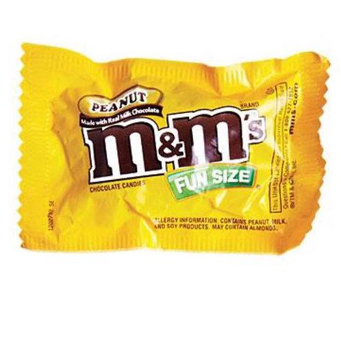 10pkts M&M Peanut - Fun Size