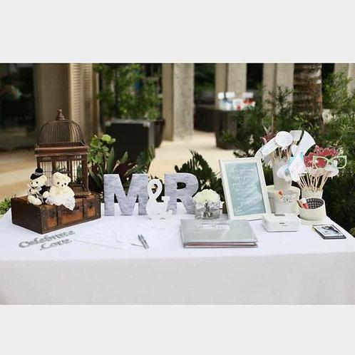 Congratulatory Table & Photo Props Setup