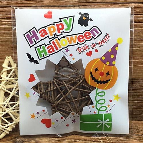 20pcs Plastic Bag with Seal - Halloween 004 - 10x10cm