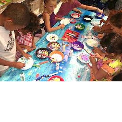 Kids Craft & Candy Table Setup