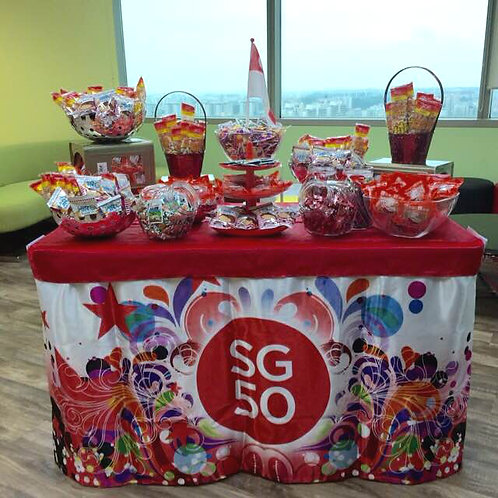 Candy Buffet Setup - Theme National Day