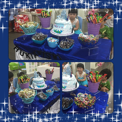 Candy Buffet Setup - Frozen Inspired Kids Party