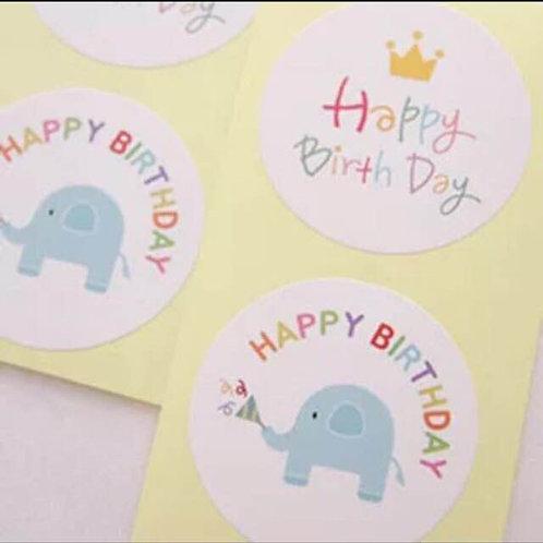 20pcs Sticker Seal - Birthday 001
