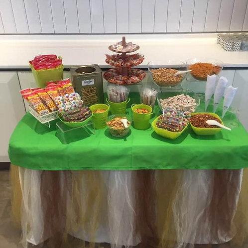 Kachang Putih & Candy Buffet Setup - Brown & Green