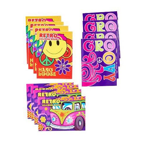 20pcs Mini Retro Colouring Books