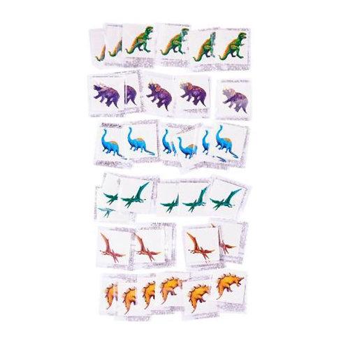 20pcs Fun Tattoos - Dinosaurs