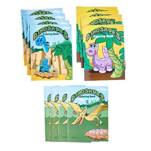 20pcs Mini Fun Colouring Books - Dinosaurs