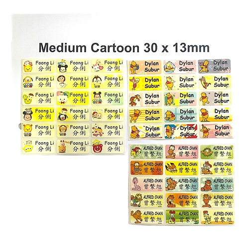 70pcs Medium Cartoon Sticker - Customize Text