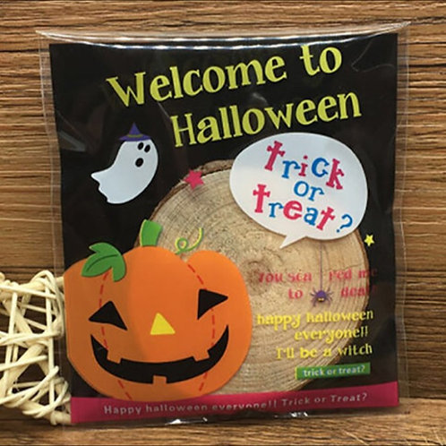20pcs Plastic Bag with Seal - Halloween 001 - 10x10cm