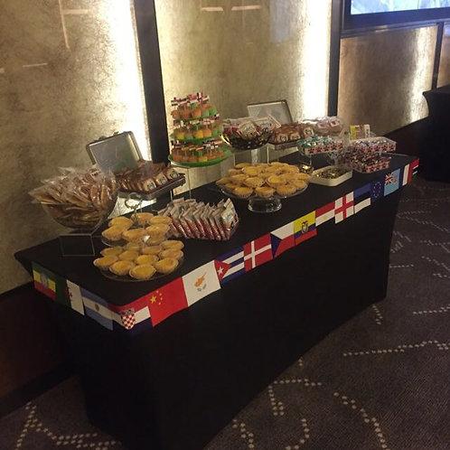 Candy Buffet Setup - Round the World