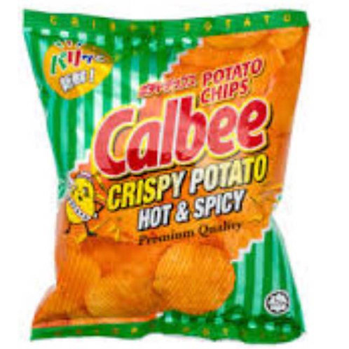 10pkts Calbee Potato Chips - Hot & Spicy
