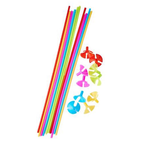 50 Sets Balloons Stick Holders