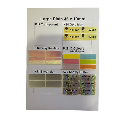50pcs Large Plain Sticker - Customize Text