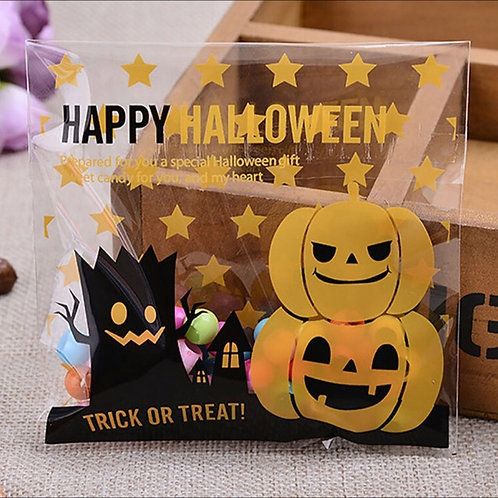 20pcs Plastic Bag with Seal - Halloween 005 - 10x10cm