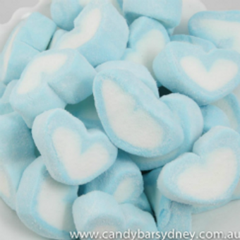 20pkts Marshmallows Blue Heart Shape - 3pcs per pkt