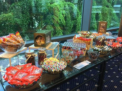 Candy Buffet Setup - Theme Old School Glam