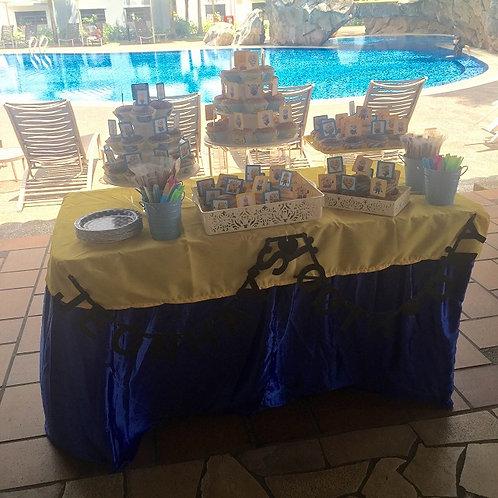 Cupcakes & Candy Buffet Setup - Minions - Blue & Yellow