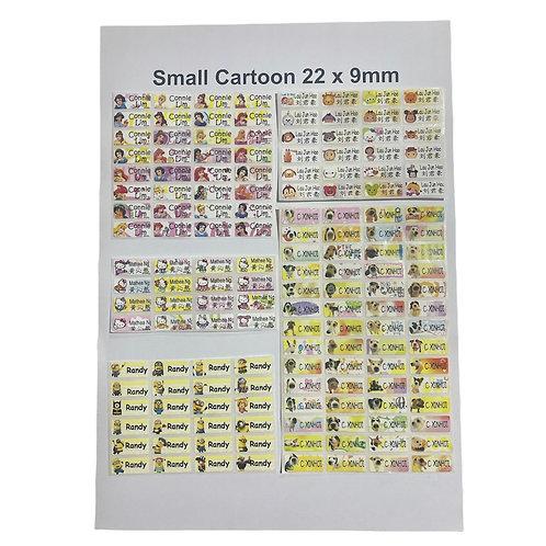 100pcs Small Cartoon Sticker - Customize Text