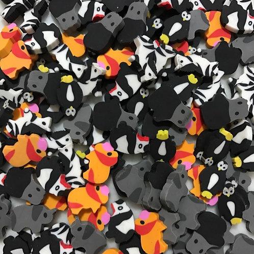 20pkts Mini Erasers - Zoo Animals - 10pcs / pkt