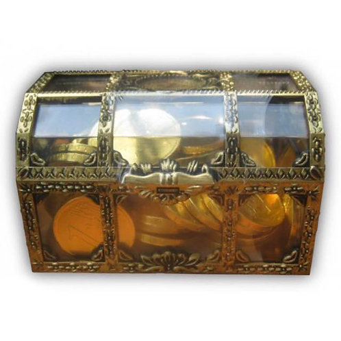 10boxes Gold Coin Chocolate Treasure Chest