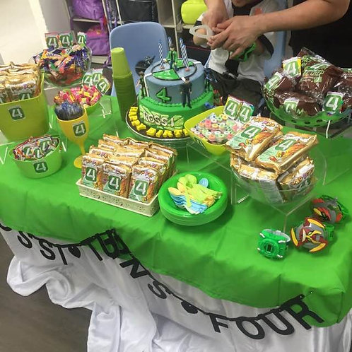 Candy Buffet Setup - Ben 10 Inspired Kids Party