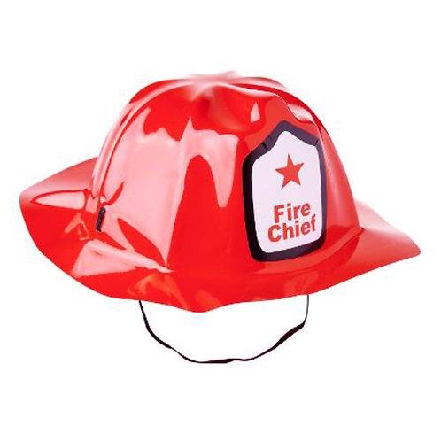 10pcs Plastic Helmet - Red Firefighter