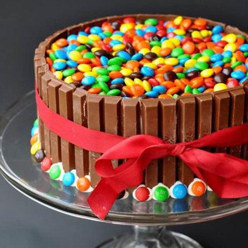 KitKat with M&Ms Cake - Halal