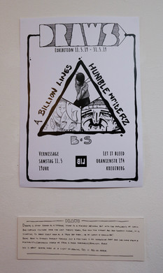 DRAWS Exhibition poster