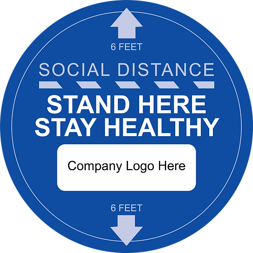Custom Social Distancing Floor Graphic